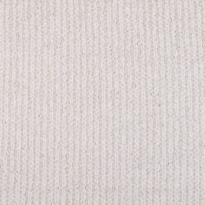 White Knitted Fabric With Silver Lurex