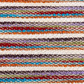Multicolour Stripes With Slub Yarn Knitted Fabric
