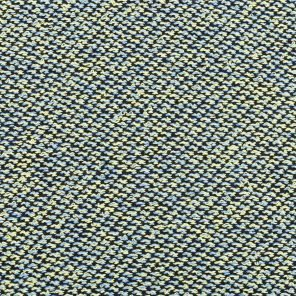 Light Blue-Yellow-Black Knitted Fabric