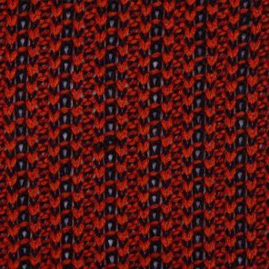 Red Black  Knittwear Look Fabric
