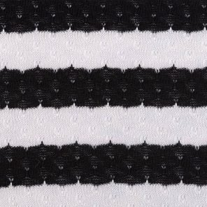 Black-White Knitted Ajour Fabric