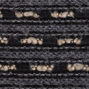 Black-Grey-Ecru Special Hairy Fabric