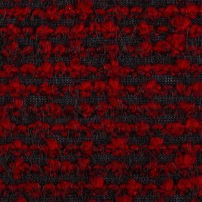 Black-Red  Knitted  Fabric With Special Roving Yarn