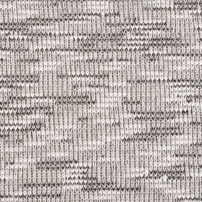White-Black Knitted Fabric With Slub Yarn