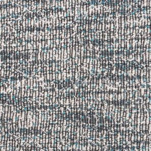 White-Black -Turquoise-  Knitted Fancy Fabric With Slub Yarn