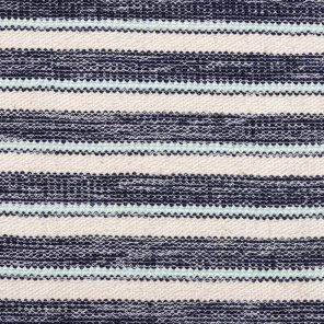 White-Black -Turquoise - Striped Fancy Knitted Fabric