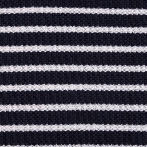 Navy-White Piquee Fabric