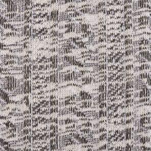 White-Black Fancy Knitted Fabric Wit Slub Yarn