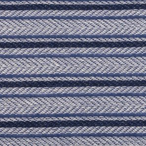 Navy-Blue-White Striped  Fancy Knitted Fabric With Shiney Lurex