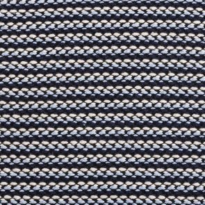 Navy-Blue-White Striped Knitted  Fabric