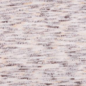 White-Brown Twisted Knitted Fabric