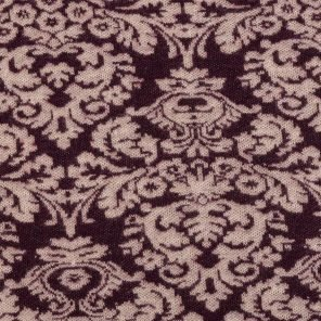 Bordeux-Rose Flower Jaquard -Knitted  Jersey Fabric