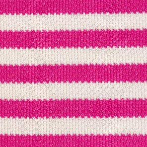 White-Pink Striped Knitted Fabric