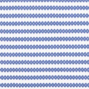 White-Blue Striped  Knitted Fabric