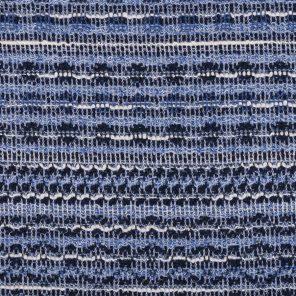 Blue-White Black Jacquard Fabric