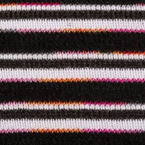 Black-White Degradee Pink-Orange Chenille Knitted Fabric