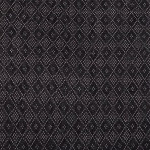 Black  Diamond Patterned Jacquard Knitted Fabric
