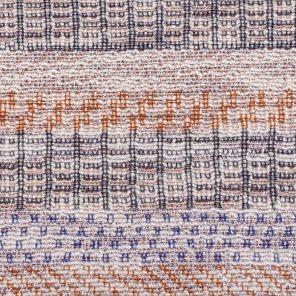 Multicolour Jaquard Fabric With Slub Yarn