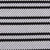 Black-White Shell Shape Jaquard Knitted Fabric