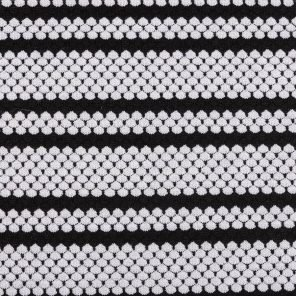 Black-White Shell Shape Jaquard Knitted Fabric