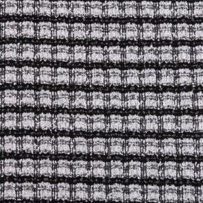 Black-White-Grey Bouckle Le Jaqard Knitted Fabric