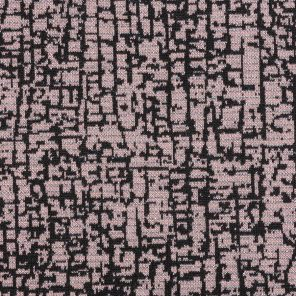 Rose-Blackwith Lurex  Geometric Des. Jacquard Knitted Fabric