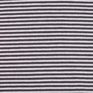 Grey-White Striped Jersey Fabric