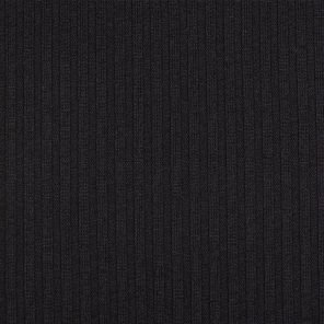 Black Rib Knitted Fabric
