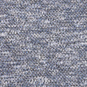 White-Grey-Blue Twisted Fancy Knitted Fabric