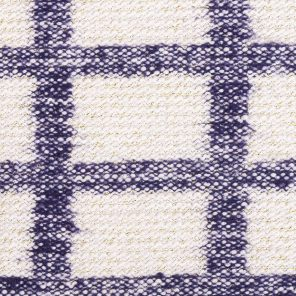 Check Patterned Knitted  Fabric With Slub Yarn And Lurex