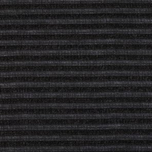 Black Ajour Striped Knitted Fabric