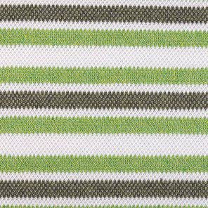 White-Green-Grey Piquee Knitted Fabric
