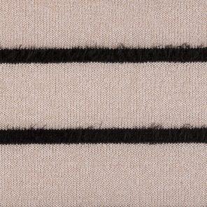 Beige-Black Striped Fancy Fabric