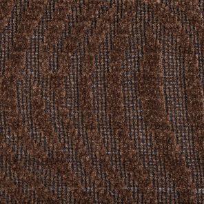 Brown Zebra Jaquard Knitted Fabric