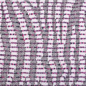 Pink-Ecru- Striped Zebra Jaquard Knitted Fabric