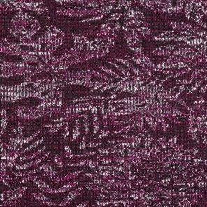 Pink Leaf Patternd Jacquard Fabric