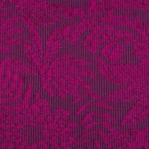 Pink-Bordeux-White Leaf Paterrend Jacquard Fabric
