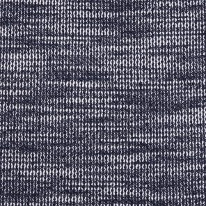 Navy-White  Knitted Fabric