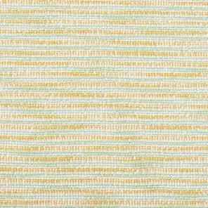 Turquoise-White-Yellow  Striped Fancy Fabric