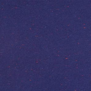 Blue Knitted Fabric With Red Neps