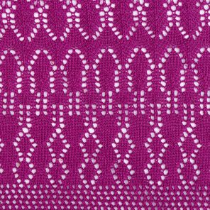 Pink Ajour Knitted Fabric