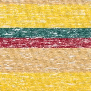 Yellow-Green-Beige Red Striped Knitted Fabric