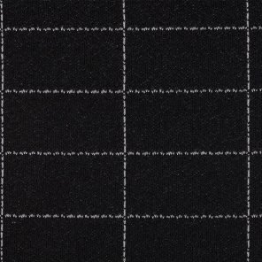 Black-White Big Checks Knitted Fabric