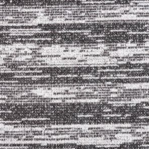 Black-White İnject Effect 3 Ply Fleece Knitted Fabric